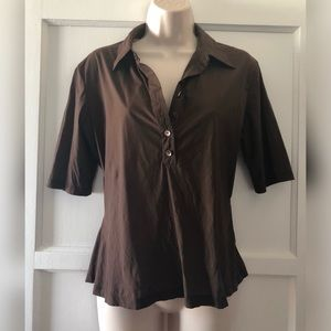 Theory brown blouse